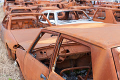 Rusty cars Royalty Free Stock Images