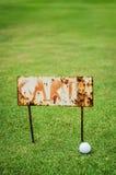 Rusty cart sign Stock Photos