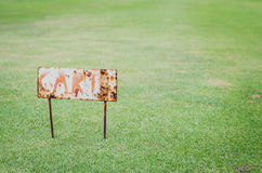 Rusty cart sign Stock Photo