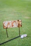 Rusty cart sign Royalty Free Stock Photos