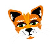 Rusty cat. Rusty the cats head on a white background vector illustration