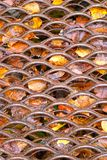 Rusty cellular metal sheet royalty free stock images
