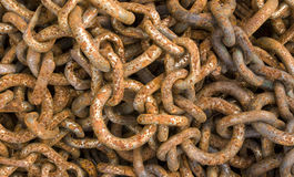 Rusty chain. Close-up of a rusty chain Stock Photos