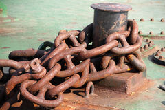 Rusty chain, anchor Royalty Free Stock Photos