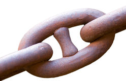 Rusty chain, connection Stock Photography