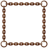 Rusty chain frame Stock Photography