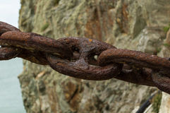 The rusty chain Royalty Free Stock Image