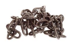 Rusty chain isolated Stock Photos