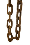 Rusty chain isolated Royalty Free Stock Photo