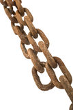 Rusty chain isolated Royalty Free Stock Image