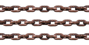 Rusty Chain Isolated On White Royalty Free Stock Images
