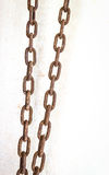 Rusty chain isolated stock photo