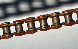 Rusty Chain and its shadow Royalty Free Stock Photography
