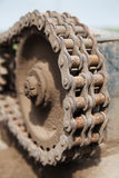 Rusty chain link drive Royalty Free Stock Image