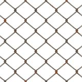 Rusty chain link fence. Background illustration of metal fence Royalty Free Stock Image