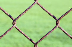 Rusty Chain Link Fence Royalty Free Stock Photography
