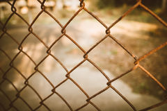 Rusty chain link fence Stock Image