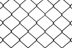 Rusty chain link fencing isolated on white background Royalty Free Stock Images