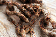 Rusty chain links Stock Photography