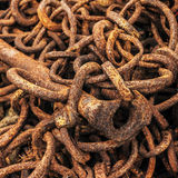 Rusty Chain. Links and spike Stock Images