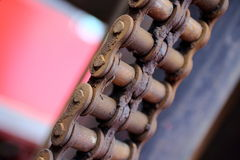Rusty chain. Old rusty chain, close up Stock Photos