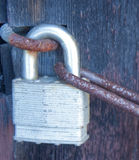 Rusty Chain and Padlock Stock Photography