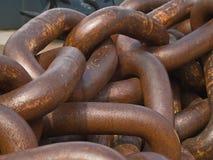 Rusty chain pile Stock Photos