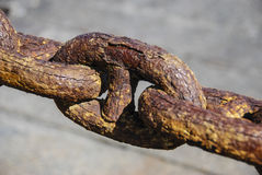 Rusty Chain Railing Stock Photography