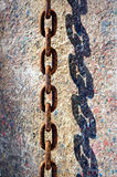 Rusty chain and shadow Royalty Free Stock Photo
