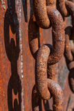 Rusty Chain and Shadow Stock Photography