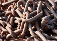 Rusty chain Stock Photo