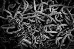Rusty chain texture Royalty Free Stock Images