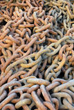 Rusty chains Stock Photos