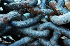 Rusty chains royalty free stock photos