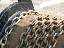 Rusty Chains. Chains are always useful. I like their sturdy look Stock Photos