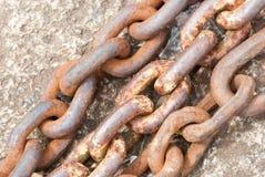 Rusty Chains Royalty-vrije Stock Fotografie