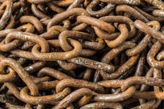 Rusty Chains Background Stock Photo