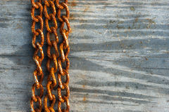 Rusty chains background Royalty Free Stock Images