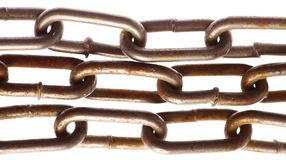 Rusty chains Royalty Free Stock Photo