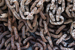 Rusty chains Royalty Free Stock Image