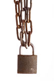 Rusty chains and lock Stock Photography