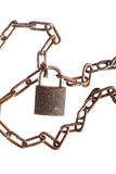 Rusty chains and lock Stock Images