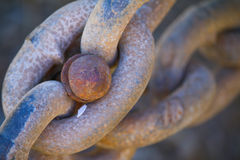 Rusty Chains Stock Image