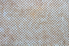 Rusty checker plate background royalty free stock image
