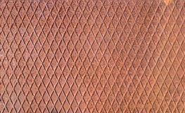 Rusty checkerboard iron texture Royalty Free Stock Images