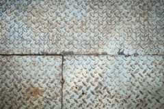 Rusty checkered steel plates texture Royalty Free Stock Photo