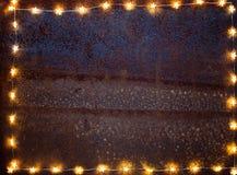Rusty Christmas bakgrund royaltyfri foto