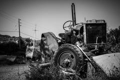 rusty ciągnika zdjęcia royalty free