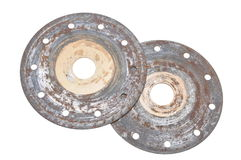 Rusty circular disks Stock Image