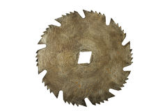 Rusty circular saw blade isolated Royalty Free Stock Photography